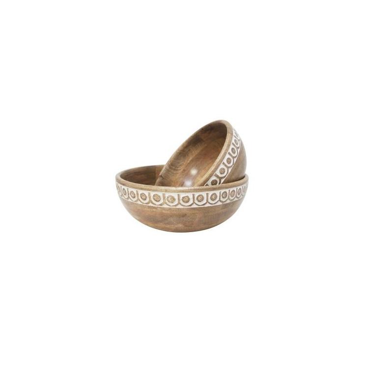 Saint Wood Carved Bowl