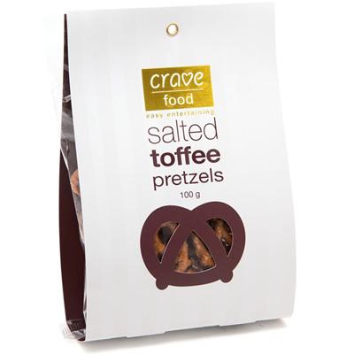 Salted Toffee Pretzels 100g