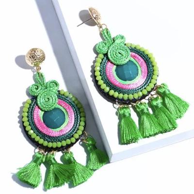 Samba Tassel Earrings - Grasshopper