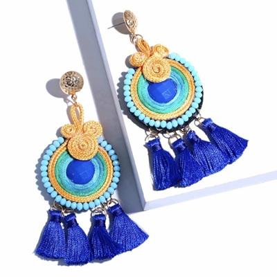 Samba Tassel Earrings - Peacock