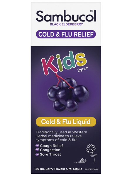Sambucol Black Elderberry Kids Liquid 120mL
