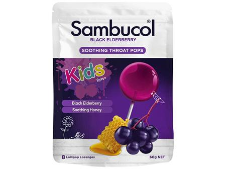 Sambucol Black Elderberry Soothing Throat Pops 60g