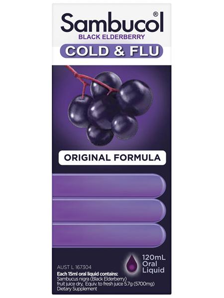 Sambucol Cold & Flu Syrup 120mL