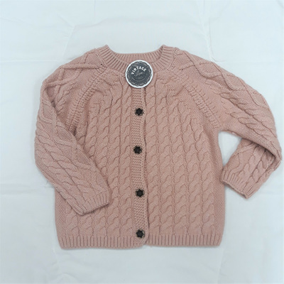 SAMPLE - Woven Cardigan - Dusty Pink