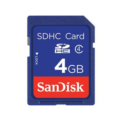 SANDISK 4GB SD HC BLUE CARD