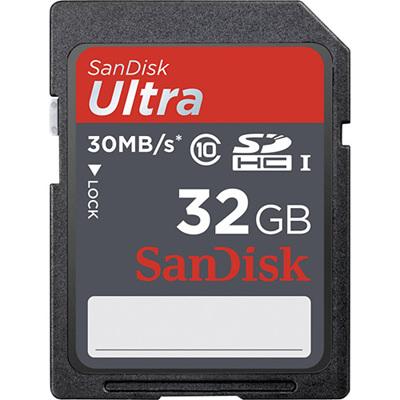 SANDISK ULTRA 32GB SDHC CARD