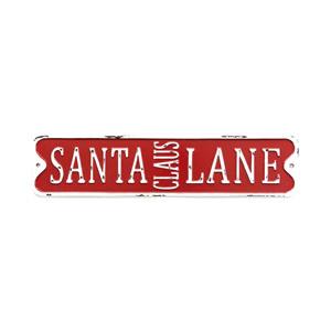 Santa Clause Lane Tin Sign 50x11.5cm