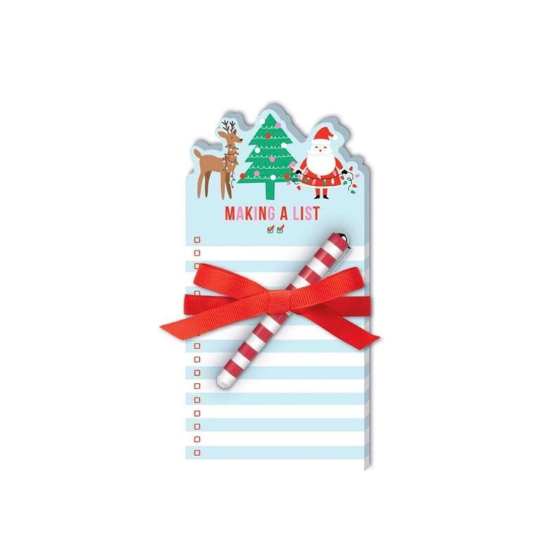 Santa Reindeer Notepad with Pen