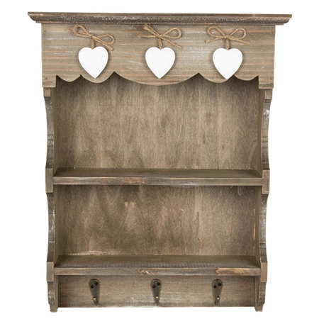 Sass & Belle Farmhouse Wall Display Unit with Hooks