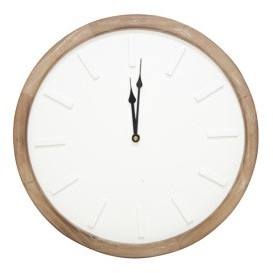 Scandi Clock - Wood Frame 40cm