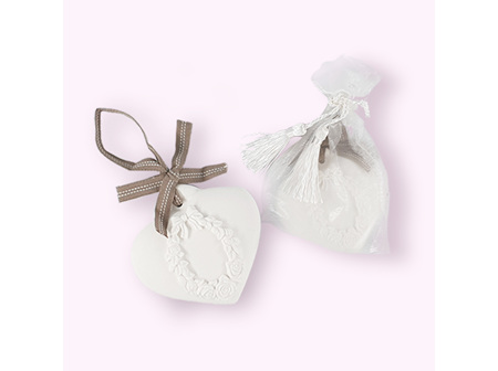 Scented Clay Heart in gift bag