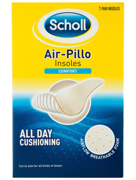 Scholl Airpillo Comfort Insoles Shoe Cushioning