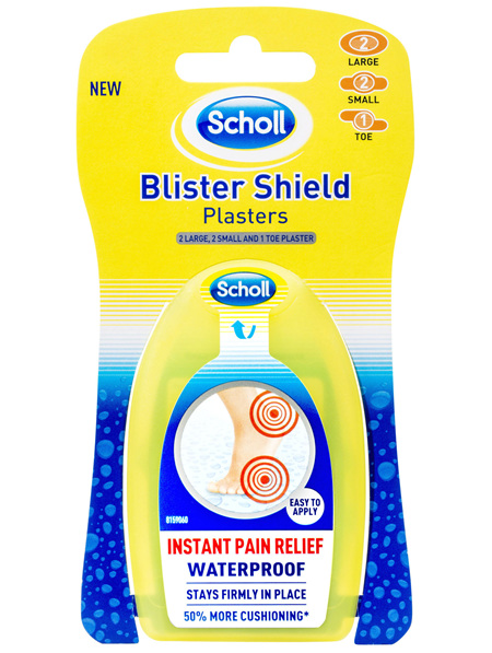 Scholl Blister Shield Plaster Waterproof Instant Pain Relief Large & Small 5 Pack