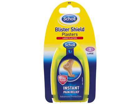 Scholl Blister Shield Plasters with Hydra Guard Technology 5 Pack
