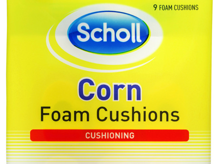 Scholl Corn Foam Cushion Pads Pain Relief
