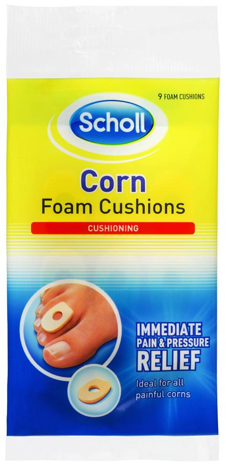 Scholl Corn Foam Cushion Pads Pain Relief