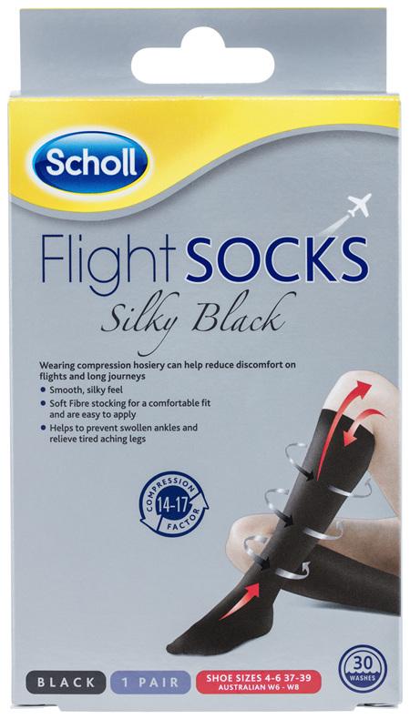 Scholl Flight Socks Compression Hosiery Ladies Silky 6-8