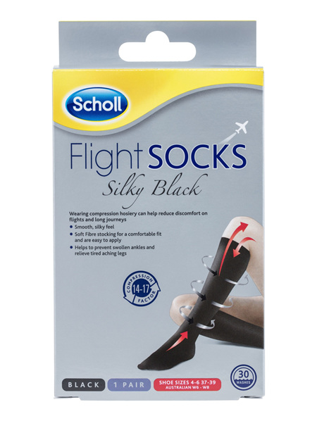 Scholl Flight Socks Compression Hosiery Ladies Silky 6-8