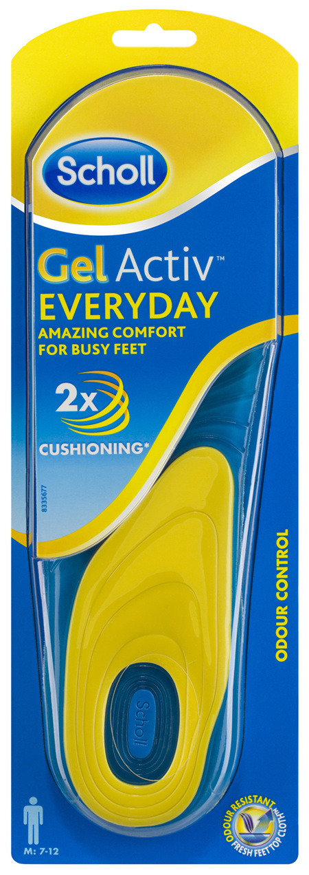 Scholl Gel Activ Everyday Insoles Men