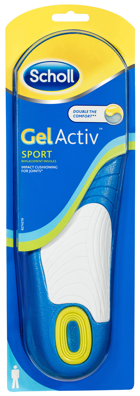 Scholl Gel Activ Sport Insoles Men
