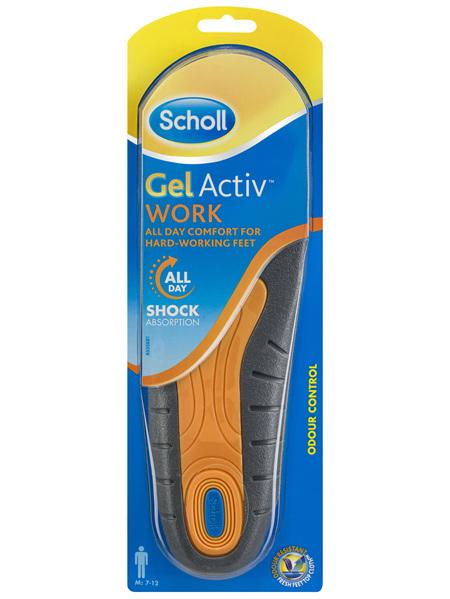 Scholl Gel Activ Work Insoles Men