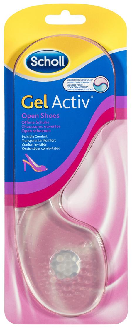 Scholl GelActiv Female Insoles for Open Shoes