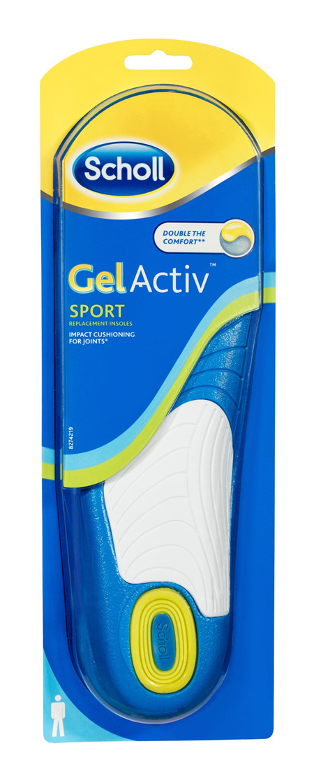 Scholl GelActiv Insole Sport Men for Comfort and Cushioning
