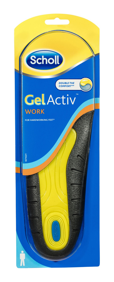 Scholl GelActiv Insole Work Men for Comfort and Cushioning