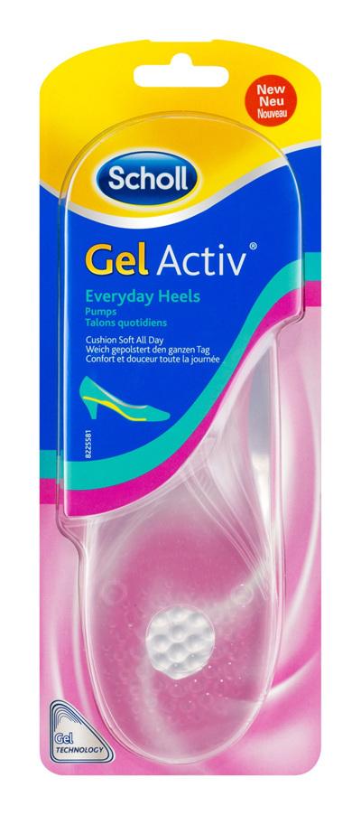 Scholl GelActiv Insoles for Women Everyday Heels Shoe Cushioning & Comfort