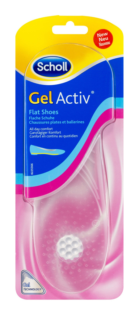 Scholl GelActiv Insoles for Women Flat Shoes Shoe Cushioning & Comfort