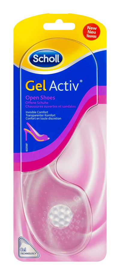 Scholl GelActiv Insoles for Women Open Heels Shoe Cushioning & Comfort