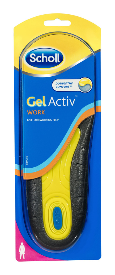 Scholl GelActiv Insoles for Work Women Shoe Cushioning & Comfort