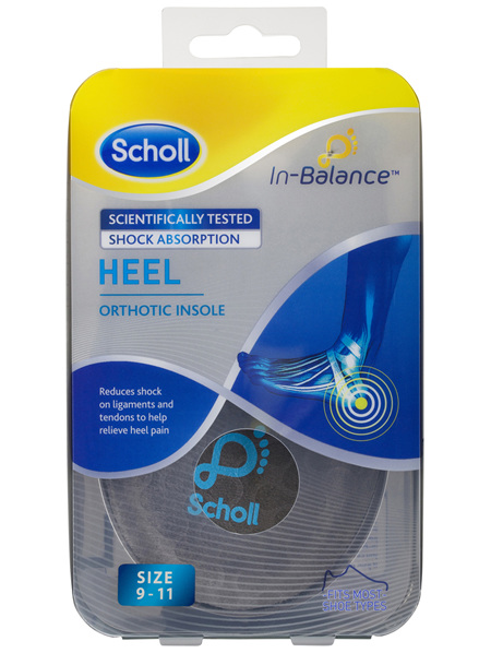 Scholl In-Balance Heel Orthotic Insole Large Size 9 - 11