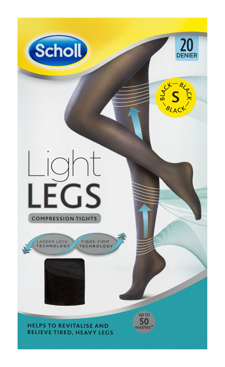 Scholl Light Legs Compression Tights 20 Denier for Tired Legs Black Small