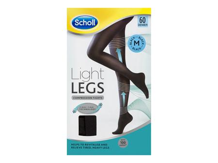 Scholl Light Legs Compression Tights 60 Denier for Tired Legs Black Medium