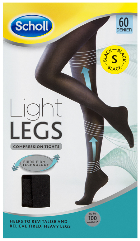 Scholl Light Legs Compression Tights 60 Denier for Tired Legs Black Small