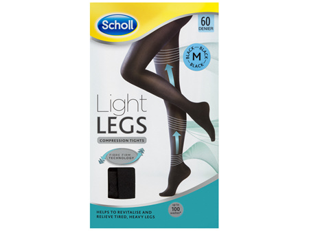 Scholl Light Legs Compression Tights 60 Denier for Tired Legs Black Medium