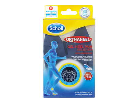Scholl Orthaheel Gel Heel Reliever Pain Relief Medium