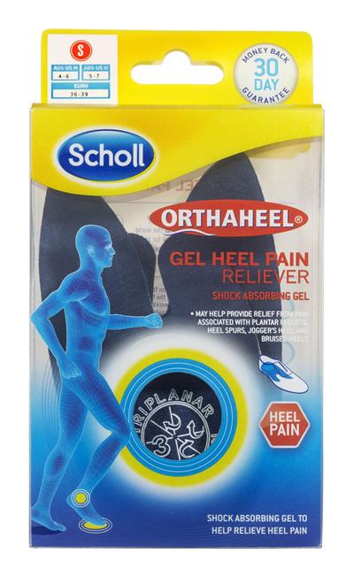 Scholl Orthaheel Gel Heel Reliever Pain Relief Small
