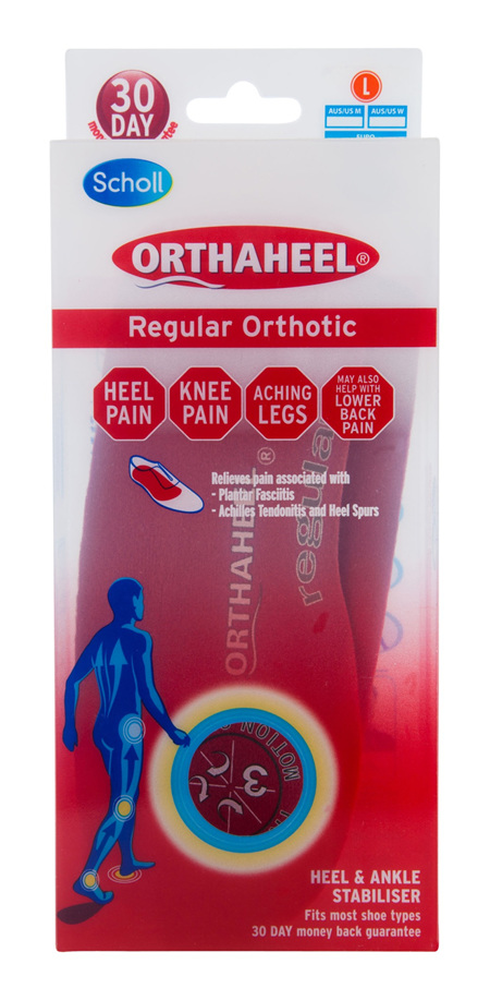 Scholl Orthaheel Orthotic Insole Pain Relief and Support Regular Large