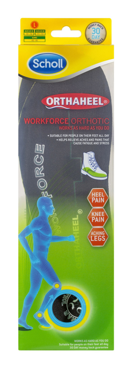 Scholl Orthaheel Orthotic Insole Pain Relief and Support Work Large