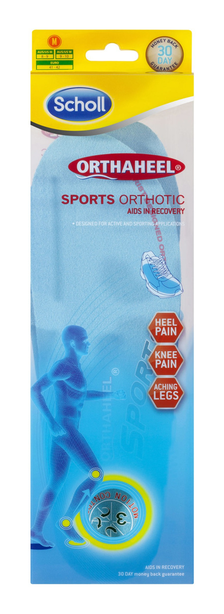 Scholl Orthaheel Orthotic Insole Pain Relief and Support Sports Large