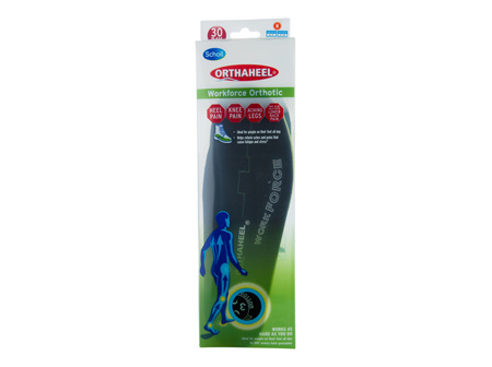Scholl Orthaheel Orthotic Insole Pain Relief and Support Work Medium