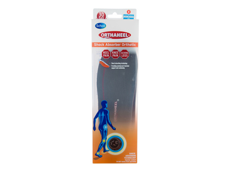 Scholl Orthaheel Orthotic Insole Pain Relief and Support Shock Absorber Medium