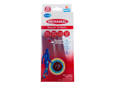 Scholl Orthaheel Orthotic Insole Pain Relief and Support Regular Medium
