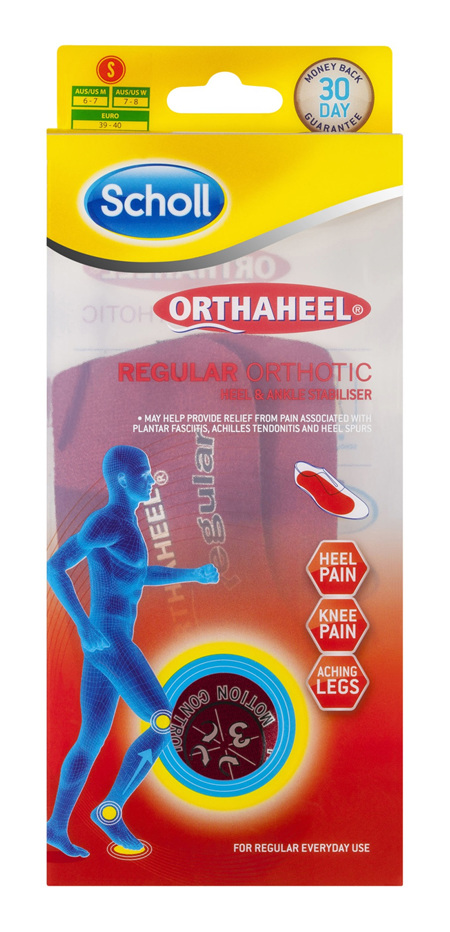 Scholl Orthaheel Orthotic Insole Pain Relief and Support Regular Small