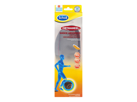 Scholl Orthaheel Orthotic Insole Pain Relief and Support Shock Absorber Small