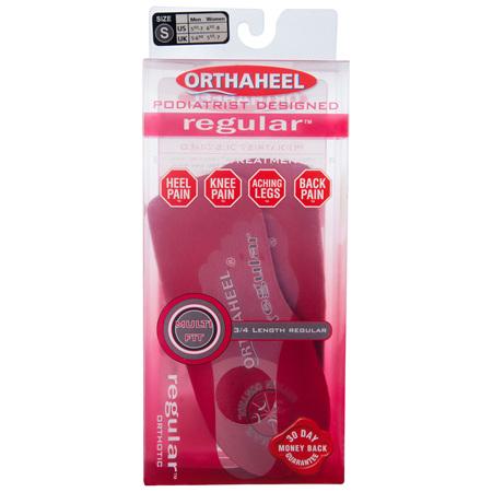 Scholl Orthaheel Regular Orthotic Small M 5 1/2 - 7 W 6 1/2 - 8 1 Pair