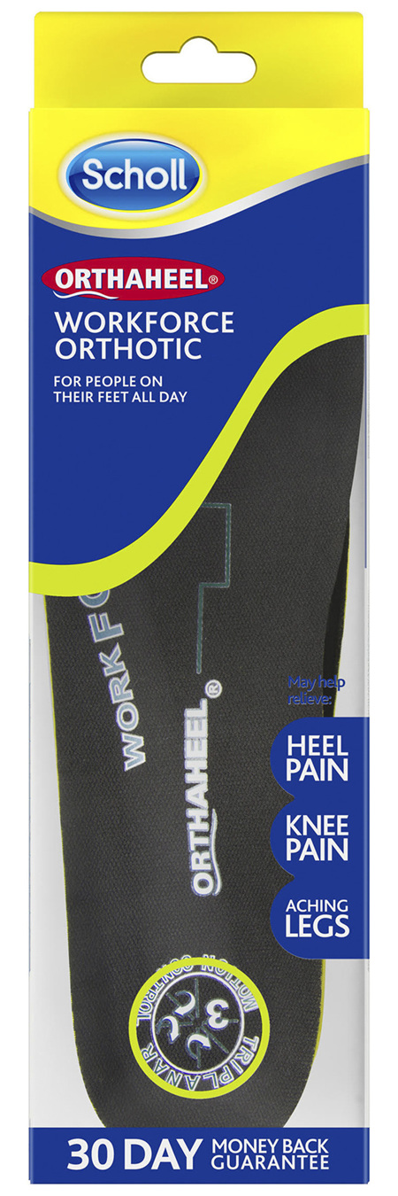 Scholl Orthaheel Workforce Orthotic Medium