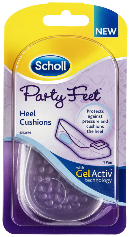 Scholl Party Feet Inserts Heel Cushion